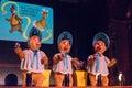 Country Bear Jamboree - Sun Bonnet Trio Royalty Free Stock Photo