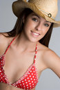 Country Bikini Girl Royalty Free Stock Photo