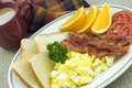 Country Breakfast Platter with Coffee Stock Photography