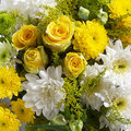 Country bunch of flowers yellow and white as a background Royalty Free Stock Photos