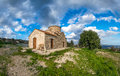Country Church of Archangel Michael in Kato Lefkara. Cyprus Royalty Free Stock Photo