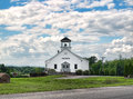 Country church simple in the countryside Royalty Free Stock Photos