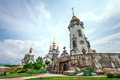 Country church in ukraine summer landscape Royalty Free Stock Photography