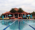 Country Club Swimming Pool Royalty Free Stock Photo
