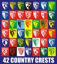 42 Country crests
