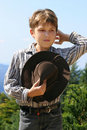 Country farm boy Royalty Free Stock Photo