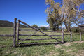 Country fence the great outdoors of southern colorado Royalty Free Stock Image