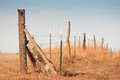 Country fence landscape photo of a in the Royalty Free Stock Photo