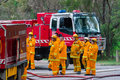 Country Fire Authority fire fighters in Melbourne, Australia Royalty Free Stock Photo