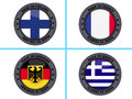 Country flag buttons Royalty Free Stock Photo