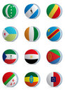 Country flags-africa1 Stock Images