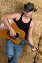 Country Guitar boy Stock Photos
