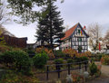 Country Half-Timbered House in Germany Royalty Free Stock Photography