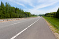 Country highway empty in russia Stock Photos