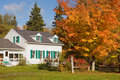 Country house in autumn Royalty Free Stock Photo