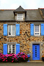 Country house in Brittany, Fra Stock Image
