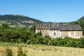 Country house in the tarn valley near millau aveyron midi pyrenees france at summer Royalty Free Stock Photography