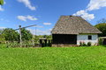 Country houses with sweep well from Maramures Royalty Free Stock Photo