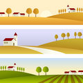 Country Landscape Banners Stock Photos