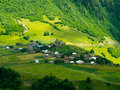 Country landscape in svaneti georgia Stock Photography