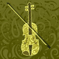 Country music pattern - fiddle