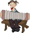 The country musician cartoon rural playing a musical instrument Stock Photos