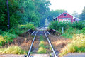 Country railroad tracks Royalty Free Stock Photo