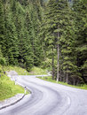 Country road at the alps Stock Photos