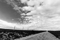 Country road and big sky Royalty Free Stock Photo
