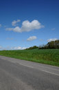 Country road in Brueil en Vexin Royalty Free Stock Photos