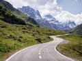 Country road at the european alps Stock Photos