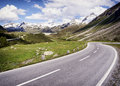 Country road at the european alps Stock Photography