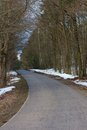 Country road german in winter Royalty Free Stock Photo