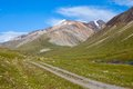 Country road in high tien shan mountains kirgizstan Stock Photography