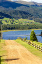 Country Road and Lake