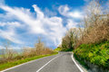 Country road in the middle of land Royalty Free Stock Photography