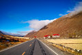 Country road photo of in xinduqiao sichuan china Stock Photo