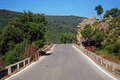 Country road, Sierra de los Alcornocales, Spain. Stock Image