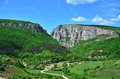 Country road and Turda gorge.