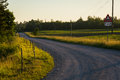 Country roads in summer evening Royalty Free Stock Photography