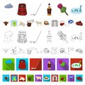 Country Scotland cartoon icons in set collection for design. Sightseeing, culture and tradition vector symbol stock web Royalty Free Stock Photo