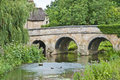 Country village stone bridge Royalty Free Stock Photo