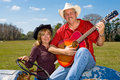 Country Western Couple Stock Photography