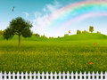 Countryside abstract natural landscape for your design Royalty Free Stock Images