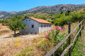 Countryside crete greece house in the lasithi plateau Stock Photo