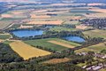 Countryside in germany aerial view of north rhine westphalia Stock Images