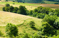 Countryside growing rural landscape in france Stock Photo