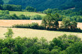 Countryside growing rural landscape in france Stock Image