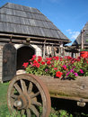 Countryside house and carriage Royalty Free Stock Image