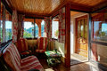 Countryside house comfortable interior in alsacien style Royalty Free Stock Photo